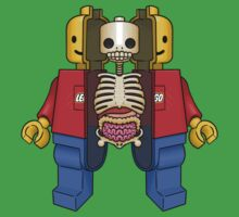Lego Man Dissected One Piece - Short Sleeve