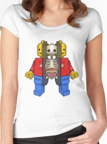 Lego Man Dissected Women's Fitted Scoop T-Shirt