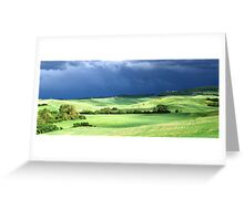 Storm Over Siena-Siena, Itlay Greeting Card