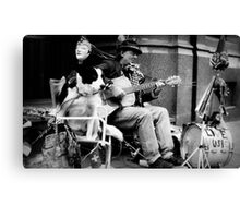 one dog band Canvas Print