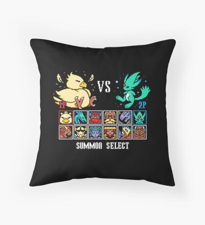 SUMMON FIGHTER Throw Pillow