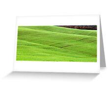 Tuscan Waves of Winter Wheat-near Siena Greeting Card