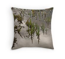 Samphire at Salthouse, Norfolk. Throw Pillow