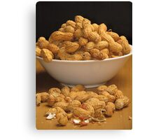 Bowl of Peanuts Canvas Print