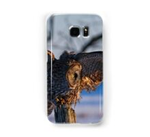 Great Gray Owl on Post - Dunrobin Ontario Samsung Galaxy Case/Skin