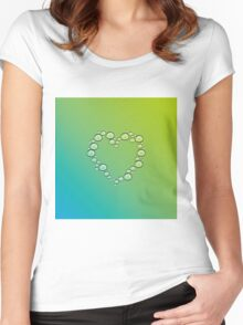 heart of water drops Women's Fitted Scoop T-Shirt
