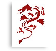 Fire Breathing Dragon - red Canvas Print