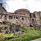 Ramparts Inside Edinburgh Castle by Sandra Cockayne