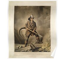The American Fireman: Facing the Enemy (1858) Poster