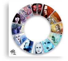 The Colour Wheel of Defiance Canvas Print