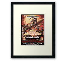 Buck Rogers Mega Drive Cover Framed Print