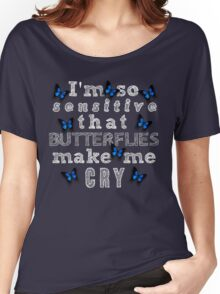 Life Is Strange - Butterflies Make Me Cry Women's Relaxed Fit T-Shirt