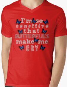 Life Is Strange - Butterflies Make Me Cry Mens V-Neck T-Shirt