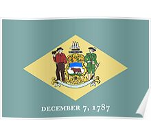 State Flags of the United States of America -  Delaware Poster