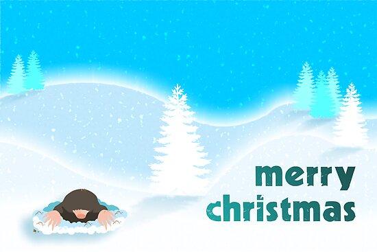 Merry Christmas Mole by puppaluppa