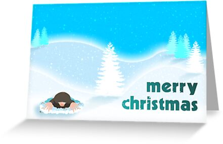 Merry Christmas Mole by Emma Harckham