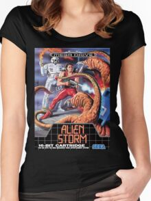 Alien Storm Mega Drive Cover Women's Fitted Scoop T-Shirt