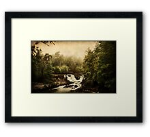 Once upon a time.. a waterfall Framed Print