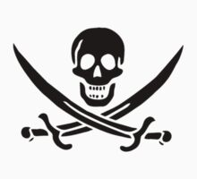 Pirate Skull and Crossed Swords (black1) by Mark Podger