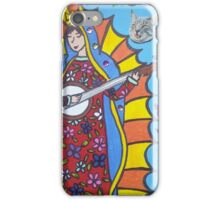Banjo Playing Virgin Mary iPhone Case/Skin