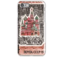 Foreign Tourism series in The Soviet Union 1970 CPA 3937 stamp Architecture Saint Basils Cathedral Red Square Moscow USSR iPhone Case/Skin