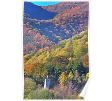 church tower in autumn Poster