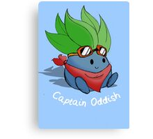 Captain Oddish Sketch Canvas Print