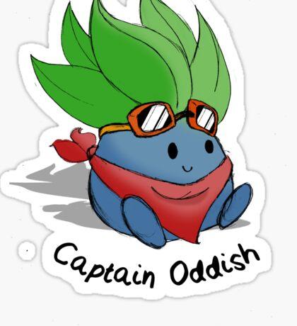 Captain Oddish Sketch Sticker