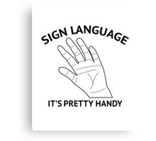 Sign Language Canvas Print