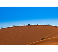 On a giant sand dune Photographic Print