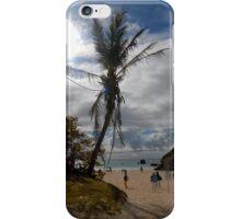 Palm tree on the beach iPhone Case/Skin