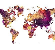 World Map purple by JBJart