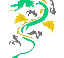 Fire Breathing Dragon - coloured by Presumably