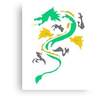 Fire Breathing Dragon - coloured Canvas Print