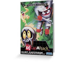 DeCap Attack Mega Drive Cover Greeting Card