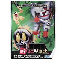 DeCap Attack Mega Drive Cover Poster