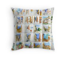 Italian Sketchbook on a wall Throw Pillow