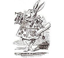 White Rabbit Illustration Photographic Print