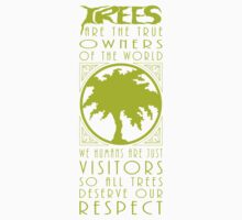 Light Green Yellow Tree Love One Piece - Short Sleeve