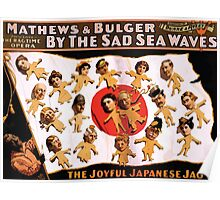 Poster 1890s By the sad sea waves Broadway poster 1898 (1) Poster