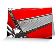 1957 Chevrolet Greeting Card