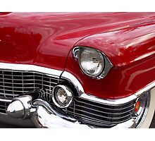 Red Cadillac Photographic Print
