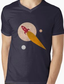 Space Travel Mens V-Neck T-Shirt