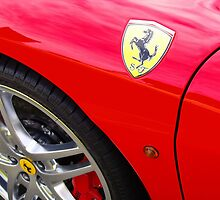 Red Ferrari Detail by Anthony Bardaro