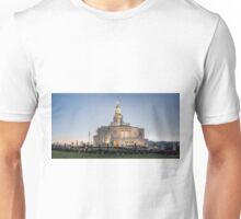 Payson, Utah, LDS Temple Pano Unisex T-Shirt