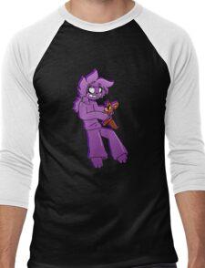 Purple Bedtime Men's Baseball ¾ T-Shirt