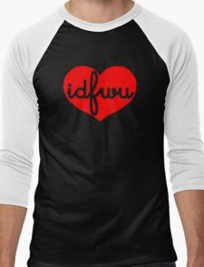 IDFWU heart Men's Baseball ¾ T-Shirt