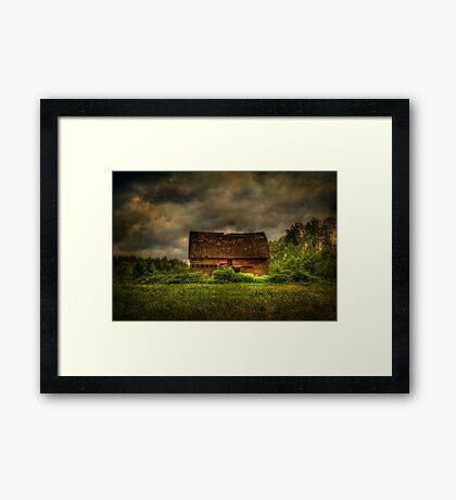 Isolated Barn Framed Print