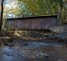 Glen Hope Covered Bridge (1889) - Looking East (Down Creek) by Andrew Seymour
