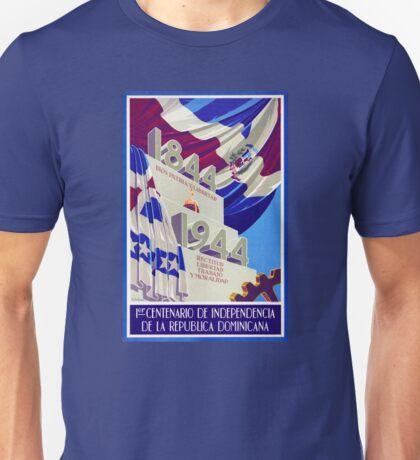 Dominican Republic Centennial Vintage Poster Unisex T-Shirt
